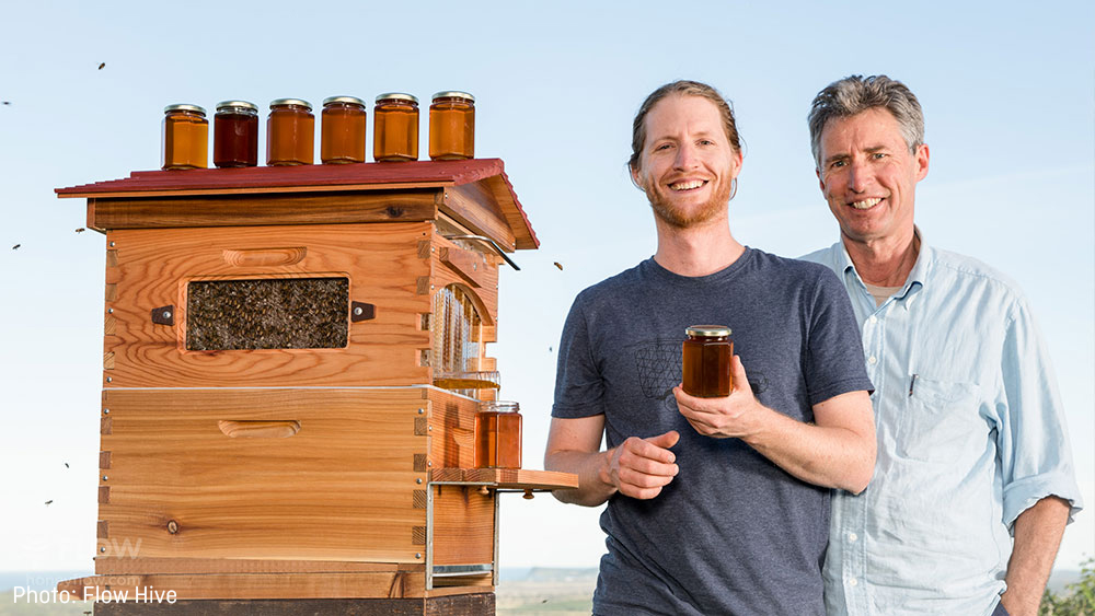 Flow Hive's co-founders Stu and Cedar