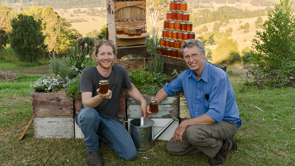Stu and Cedar Anderson, co-inventors of Flow Hive