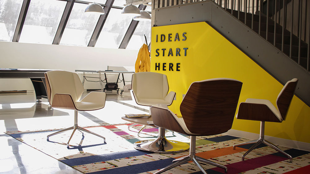 Co-working spaces are more common