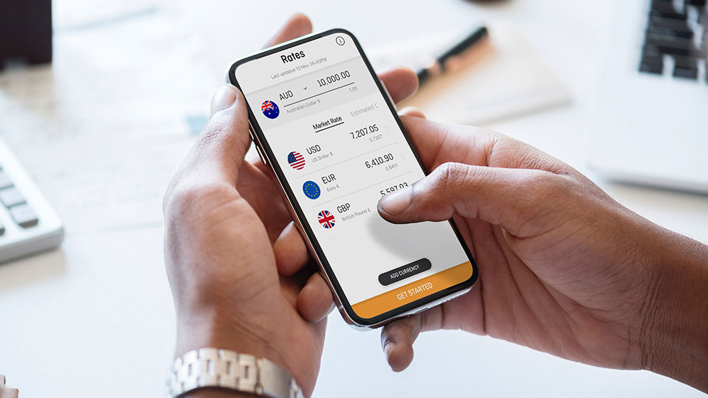 The OFX mobile app