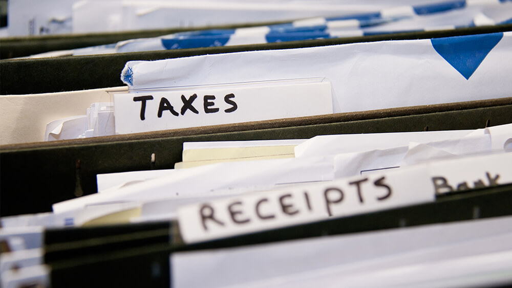 Taxes and Receipts Paperwork