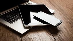 laptop, phone