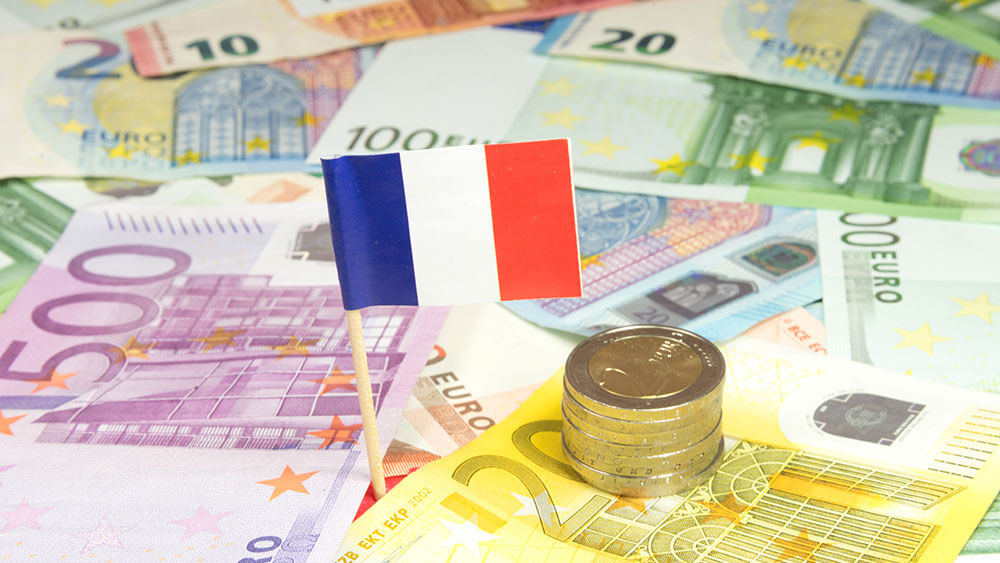 How does the French impact the decline of the Euro?