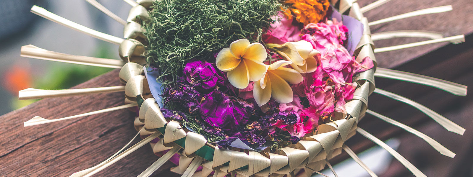 Flower and herb basket in Bali