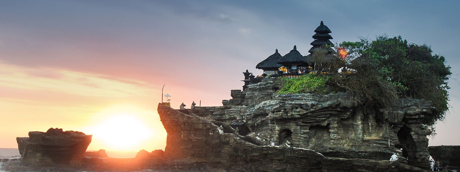 Temples in the sunset in Bali