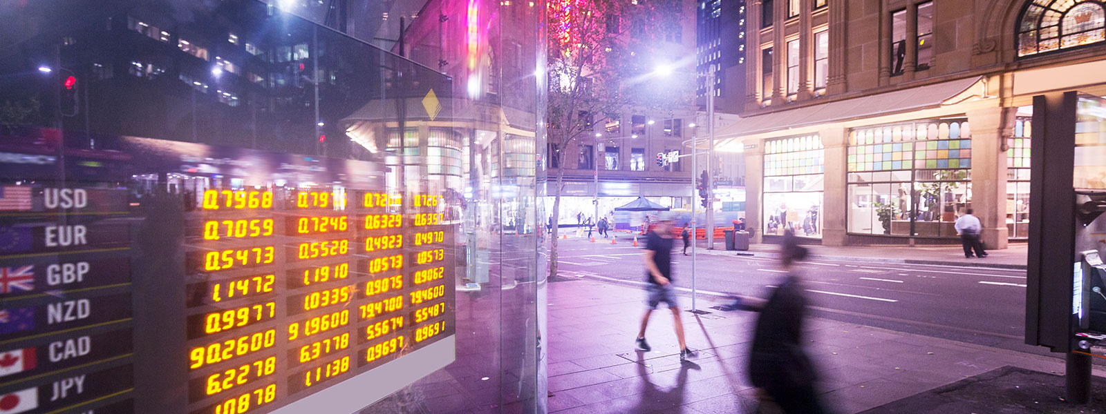 Market rates display