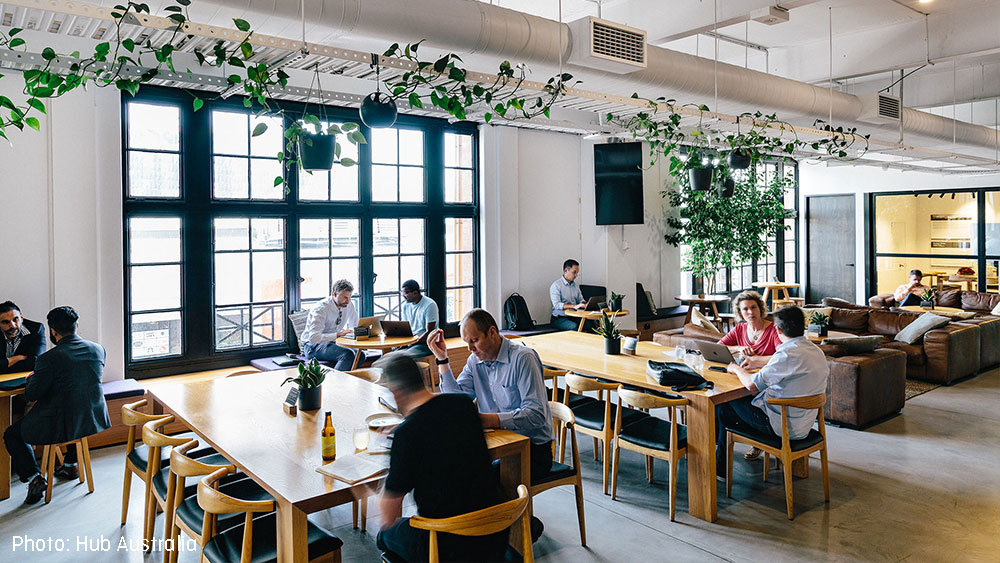 Coworking spaces are located around the globe